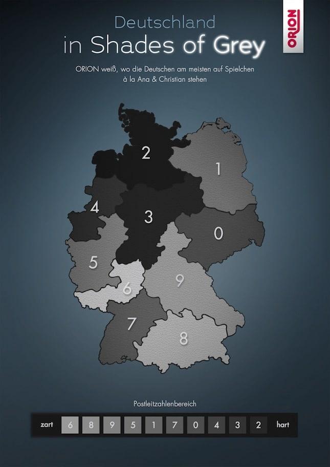 Shades of Grey Liebhaber in Deutschland laut Orion