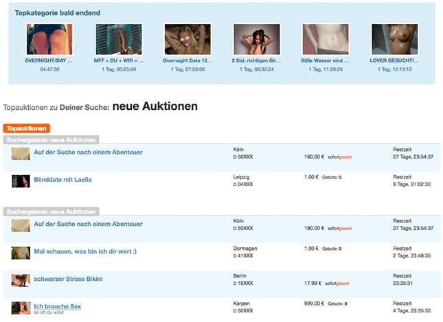 Erotik Auktionen auf gesext.de