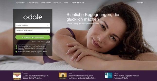 C-Date.com der Seitensprunganbieter mit einer großen Commuity