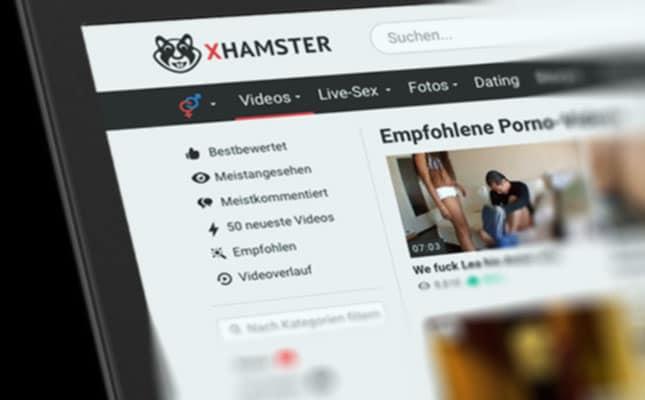 Pornoseiten wie xHamster sind in Deutschland sehr beliebt