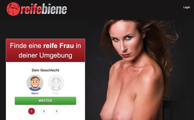 ReifeBiene.com garantiert ältere Frauen für Sex finden