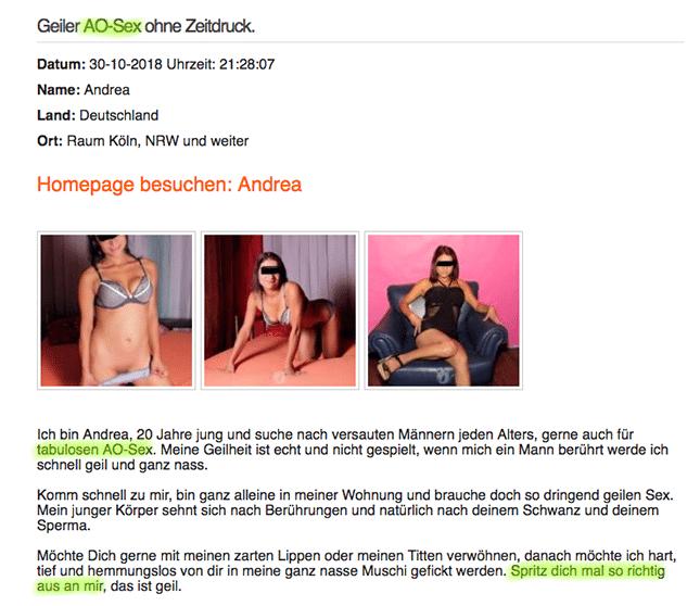 AO-Sex-Anzeige