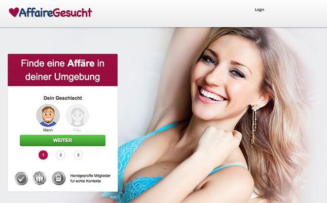 AffaireGesucht.com Startseite
