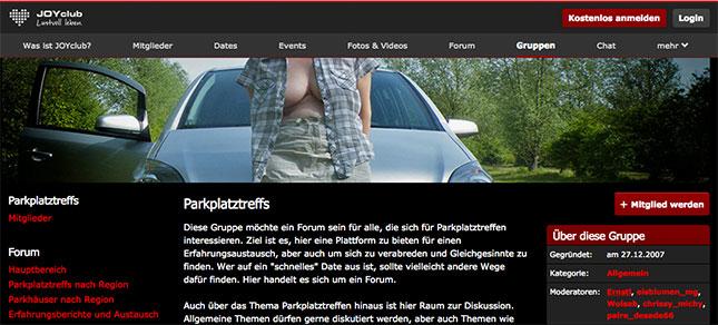 Parkplatzsex-Forum auf Joyclub.de