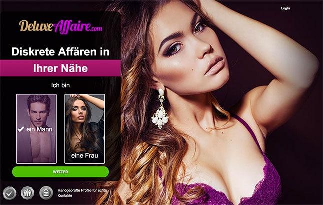 DeluxeAffaire.com Startseite