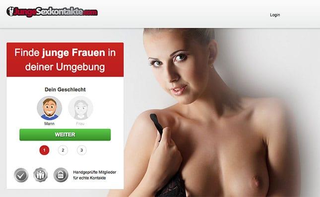 JungeSexkontakte.com Homepage
