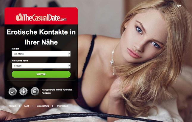 TheCasualDate.com bietet eine Sex-Kontakt-Garantie an