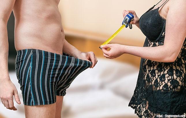 Penis richtig messen