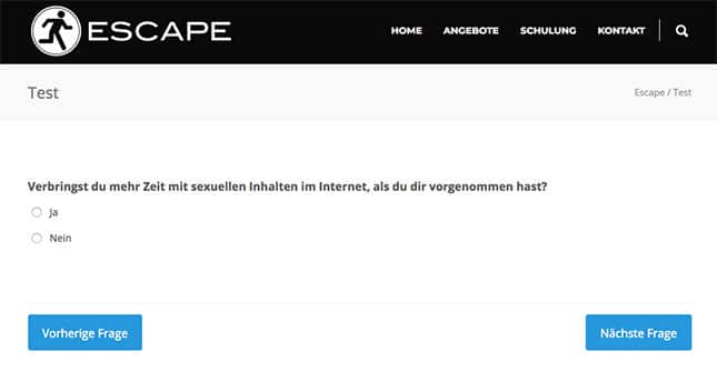 Escape Pornosucht Test