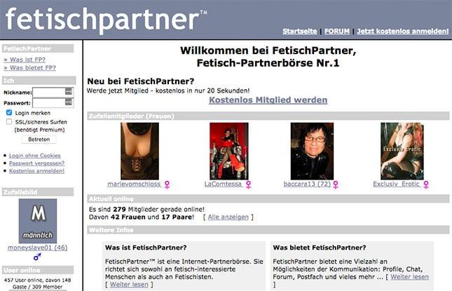 Fetischpartner.com Startseite