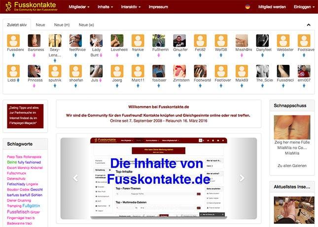 Fusskontakte.de Startseite