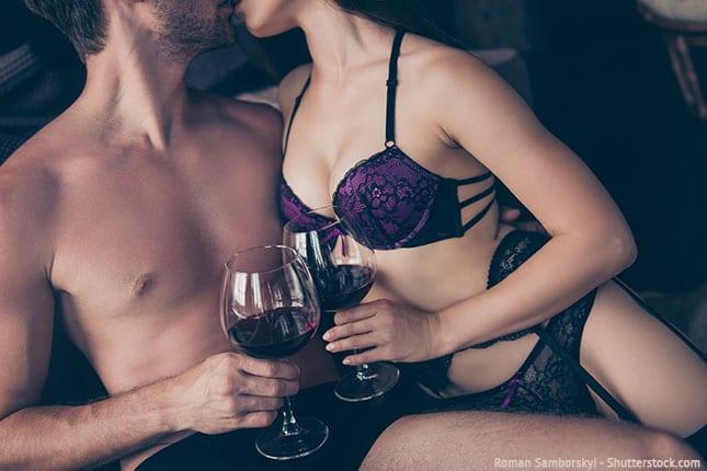 Länger durchhalten beim Sex dank Alkohol