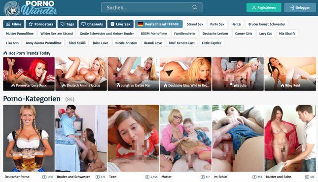 Pornowunder.com Deutsche Sextube