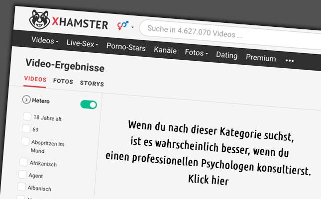 xHamster-Warnung