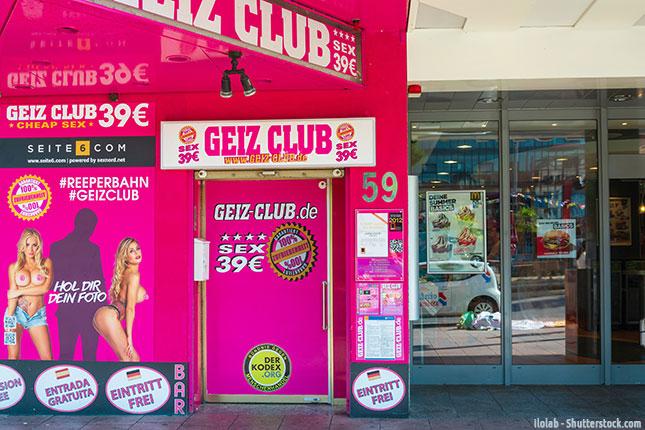 Im Geiz Club auf der Reeperbahn in Hamburg gibt es bereits für 39 Euro Sex