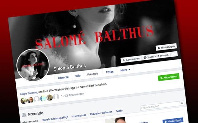 Salome Balthus auf Facebook
