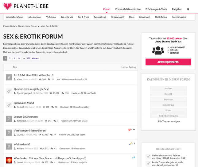 Planet-Liebe. de Sex-Forum