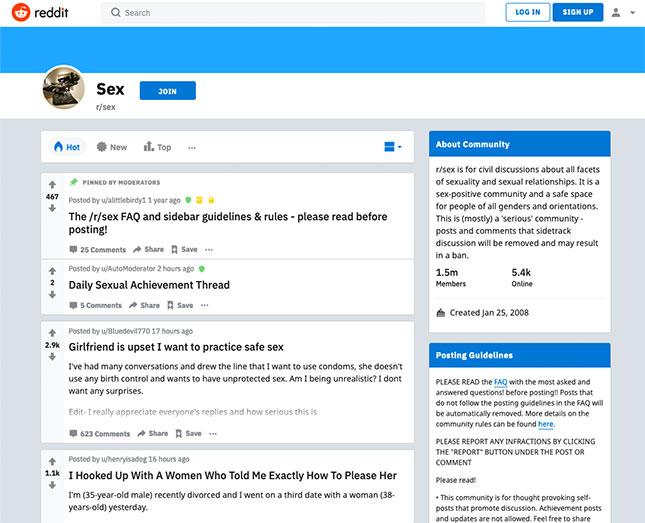 reddit Sex-Forum