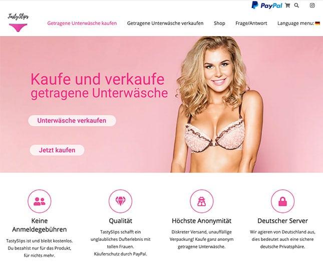 Auf TastySlips.com getragene-Unterwäsche kaufen