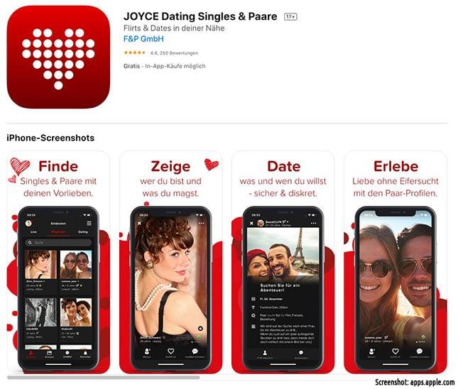 Joyce - die Joyclub App