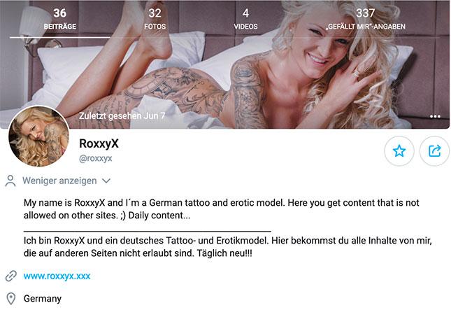 RoxxyX auf OnlyFans