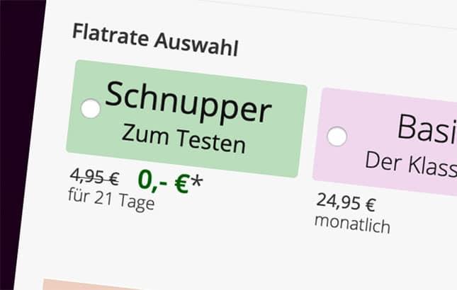 Schnupper-Flatrate-Abo