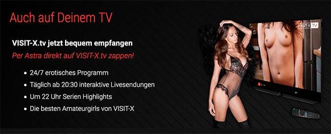 Visit-X TV auf dem Fernseher