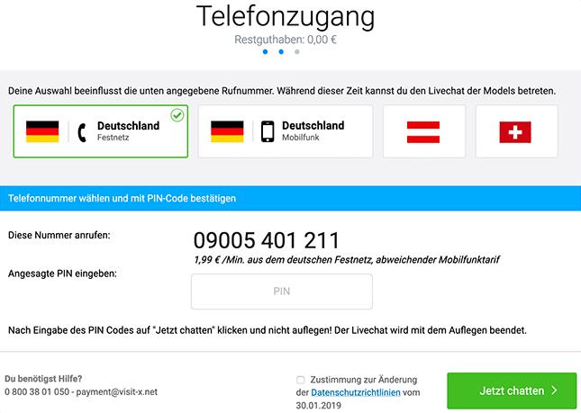 Visit-X Telefonzugang