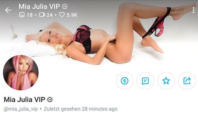 Mia Julia OnlyFans-Account